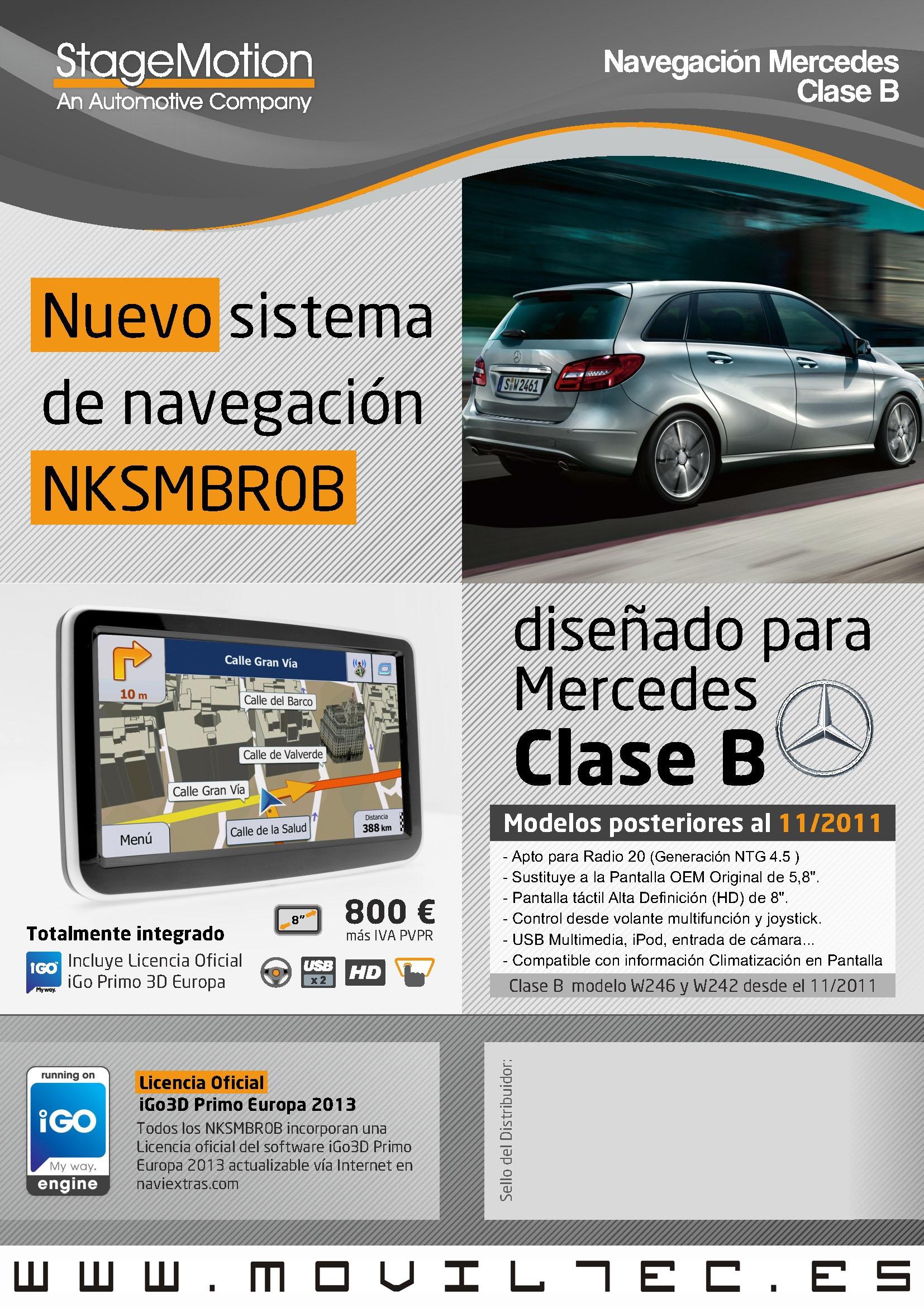 Accesorios-automóvil-Moviltec-Navegacion-Mercedes-Clase-B