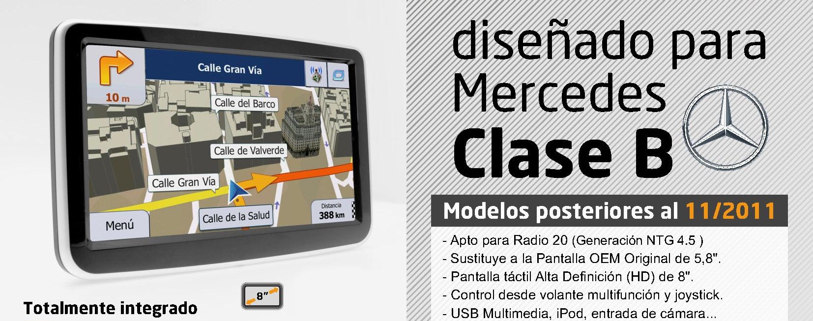 Nuevo Sistema De Navegaci 243 N Mercedes Clase B Moviltec