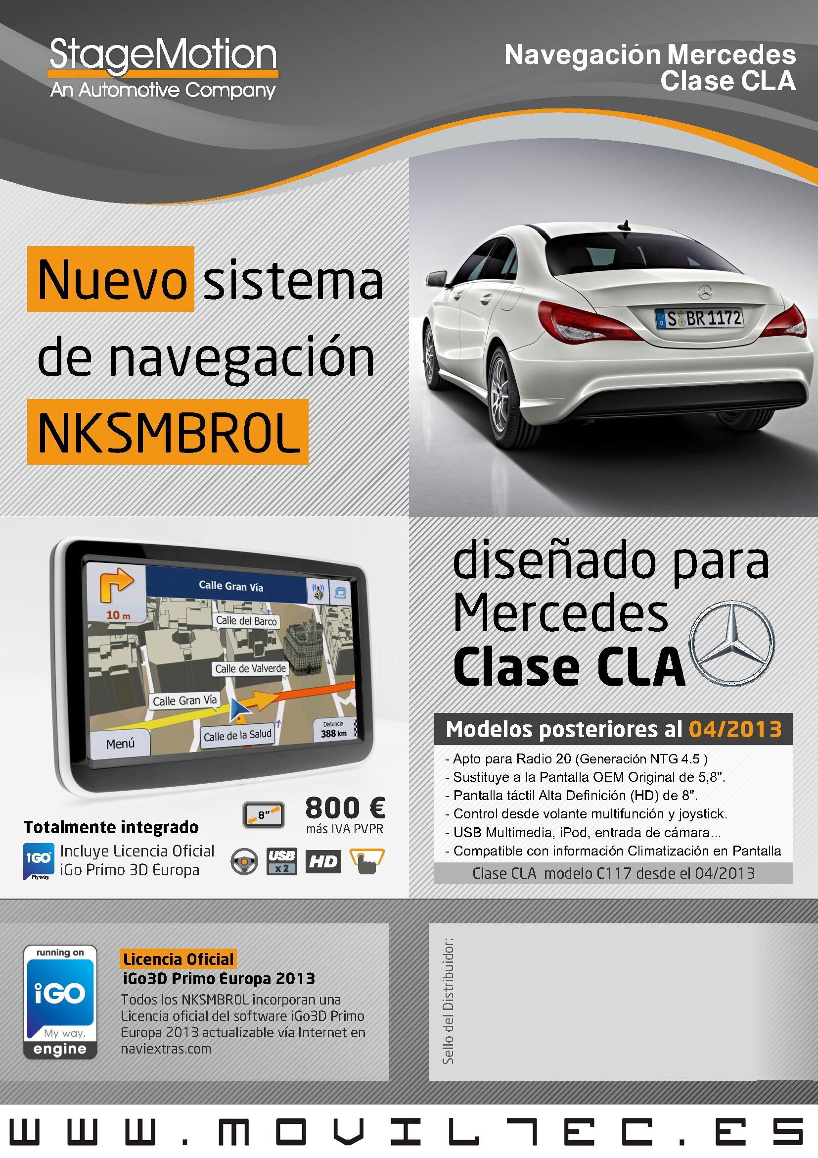 Accesorios-automóvil-Moviltec-Navegacion-Mercedes-Clase-CLA