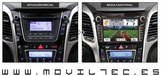 Accesorios-automóvil-Moviltec-Nuevo-Sistema-de-Navegación-para-Hyundai-i30-2