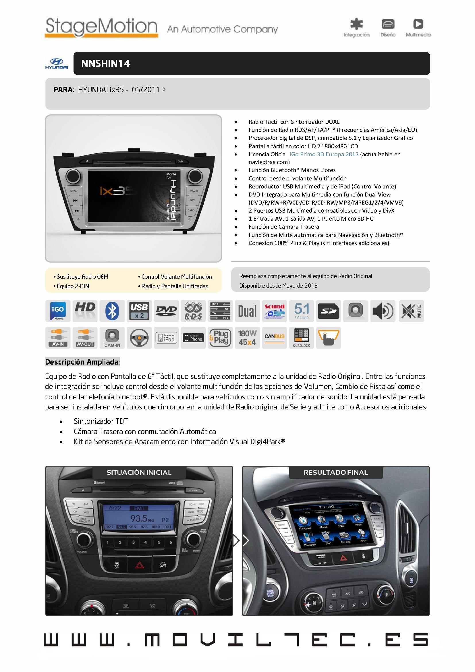 Accesorios-automóvil-Moviltec-Nuevo-Sistema-de-Navegación-para-Hyundai-ix35