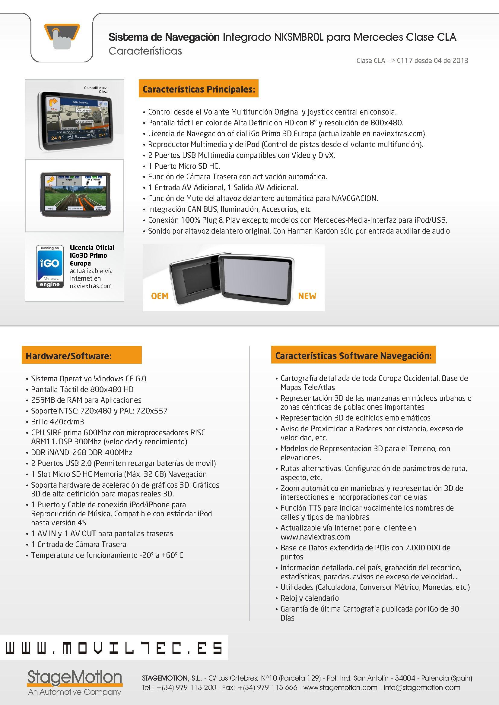 Accesorios-automóvil-Moviltec-Sevilla-Navegacion-Mercedes-Clase-CLA